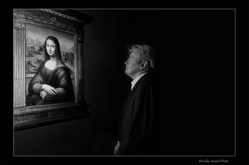 Alain Delon (Museo del Louvre, Parigi 2012)