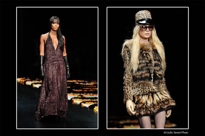 Sfilata Roberto Cavalli - 27 febbraio 2012 - Naomi Campbell, modella per Roberto Cavalli
