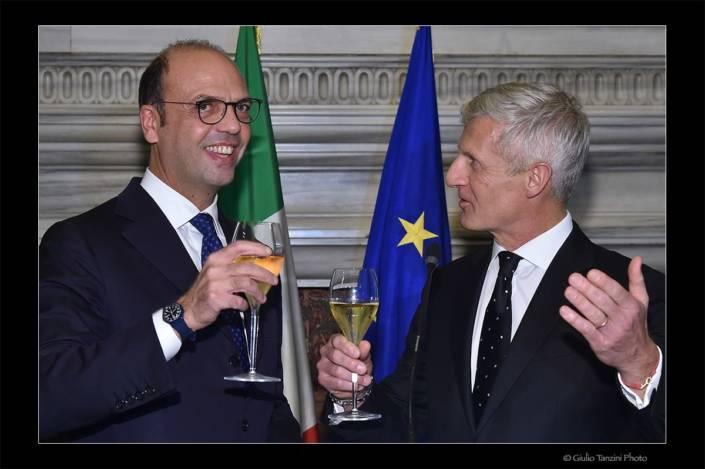 Angelino Alfano e Andrea Illy (Roma 2017)