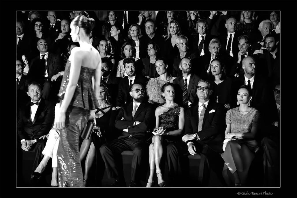 Parterre sfilata Giorgio Armani Privè - 30 aprile 2015 - otografia di moda, Giorgio Armani, Sophia Loren, Leonardo Di Caprio