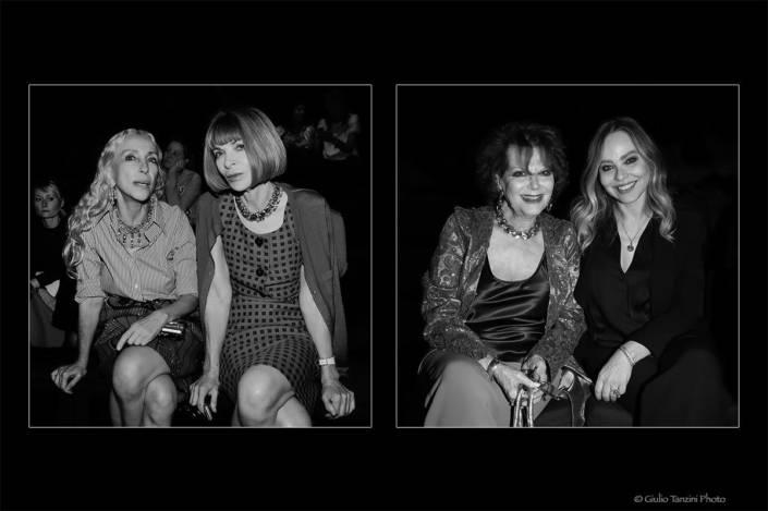 Franca Sozzani con Anna Wintour - Claudia Cardinale con Ornella Muti