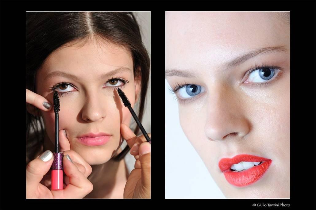 Backstage Milan Fashion Week - fotografia di moda, ritratti beauty backstage make-up artist