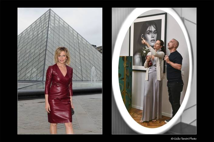 Isabella Ferrari (Louvre, Parigi 2012) - Marica Pellegrinelli e Eros Ramazzotti (2017)