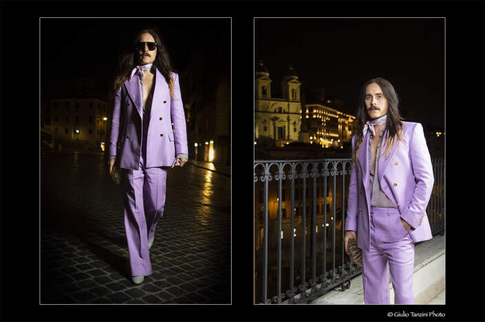Shooting in Rome with Jared Leto for Gucci