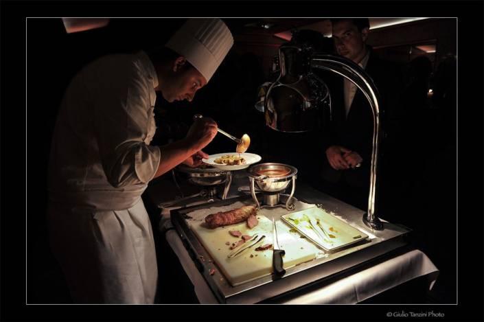 Show cooking Chef stellato nella preparazione dei piatti